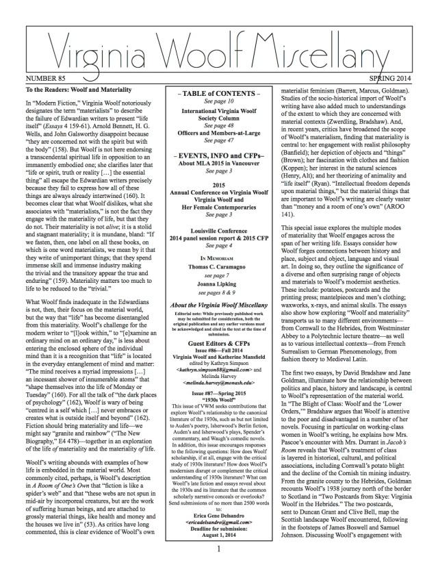 VWM85Spring2014--page 1